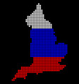 russia colors dot england map vector image vector image