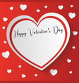 san valentines day card with space for text for vector image vector image