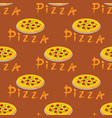 seamless pizza pattern with different ingredients vector image