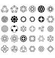 set of 30 pcs circular shapes vector image