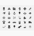 set toys icons on white background vector image