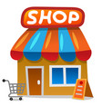 shop store icon vector image