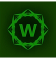 Simple Monogram W vector image vector image