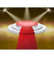Smoky Stage Podium Illuminated with spotlight for vector image vector image