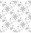 snowflake simple seamless pattern black snow on vector image vector image