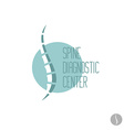 Spine logo template Medical diagnosctic care sign vector image