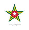 star with Togo flag colors and symbols design vector image vector image