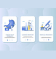 stomach check up mobile app onboarding screens vector image