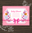 Sweet baby shower invitation vector image vector image