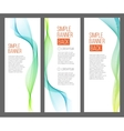 three abstract banners with gradiented webs vector image
