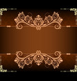vintage border and background landscape vector image vector image