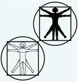 Vitruvian man vector image