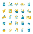 Washing and cleaning icons vector image vector image