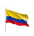 waving flag of columbia vector image