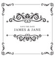 Wedding card frame border