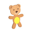 wooden kid toy ecological figure device vector image vector image