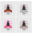 yoga logo design artwork of woman practicing yoga vector image