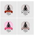 yoga logo design artwork of woman practicing yoga vector image vector image
