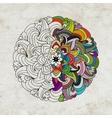 Mandala on grunge paper for your design vector image