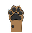 paw dog up pet vector image