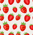 Seamless Texture of Ripe Strawberry vector image