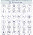 Travel outline icon set Elegant thin line vector image