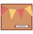 Card with colorful flags vector image