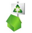 eco house symbol vector image