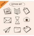 Office stationery symbols set vector image