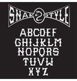 snake style gothic alphabet vector image
