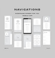 10 in 1 ui kits wireframes screens for your vector image vector image