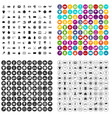 100 tennis icons set variant vector image vector image