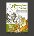adventure time mountain advertising banner vector image vector image