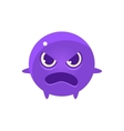 Angry Round Character Emoji vector image vector image