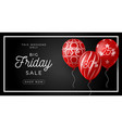 black friday sale poster with golden glossy vector image
