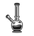 bong for smoking marijuana graphic object vector image vector image