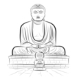 buddha monument vector image vector image