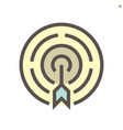 business target icon design for vector image
