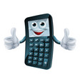cartoon calculator man vector image vector image