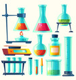 chemical equipment for experiment vector image