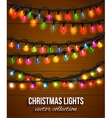 Colorful christmas light bulbs collection for vector image