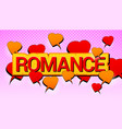 comic amorous romantic concept vector image