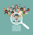 concept of human resources management vector image vector image