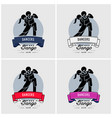 dancing club or class logo design artwork vector image vector image