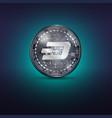 dash metal coin vector image vector image