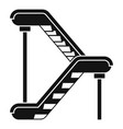 double escalator icon simple style vector image vector image