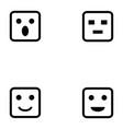 emotion icon set vector image