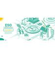 esg concept environmental social and governance vector image vector image