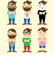 Fashionable men set vector image