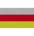 Flags North Ossetia on denim texture vector image